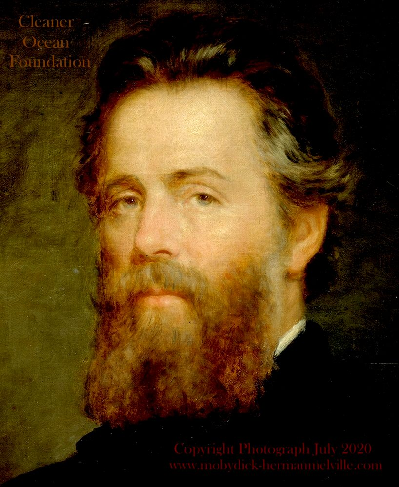 Portrait of Herman Melville, Copyright August18 2020 Cleaner Ocean Foundation Ltd