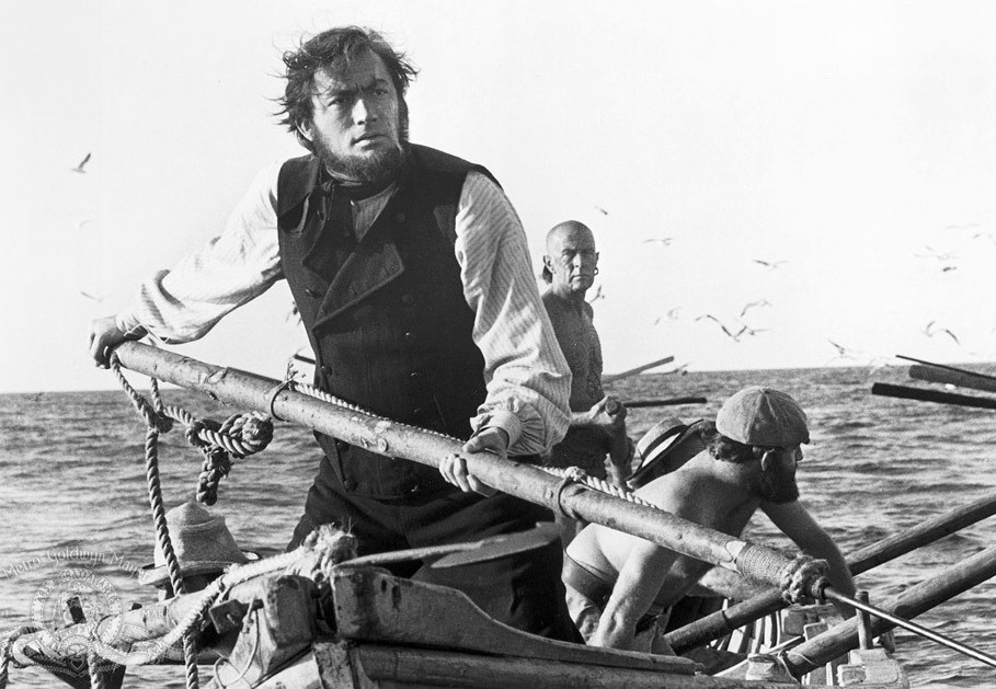 Captain Ahab, played by Gregory Peck in 1956